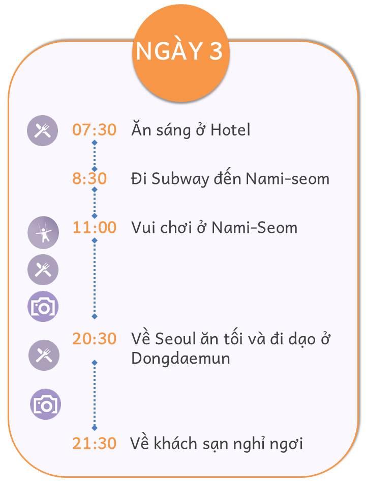 Lich trinh Seoul ngày 3