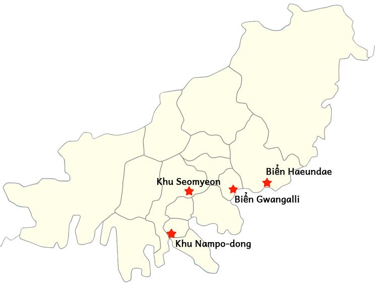Bản đồ khu vực ở Busan